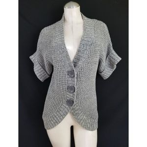 The Limited Size S Gray Silver Cardigan
